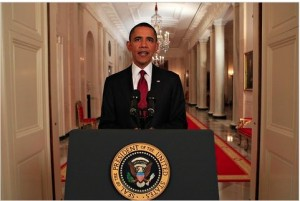 President Obama  Announced the Death of bin Laden-photo Doug Mills/The New York Times