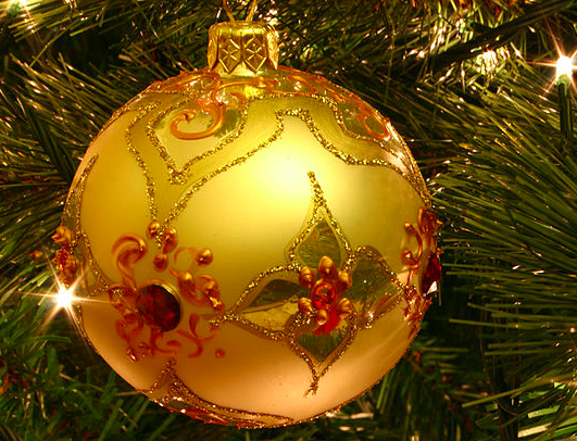 A bauble on a Christmas tree By Kris De Curtis-Wikicommons