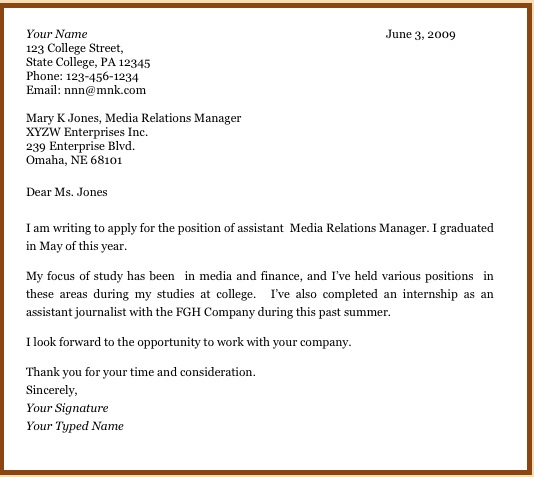 cover letter for recent graduate no experience sample kazan klonec co