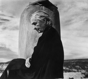 Georgia O'Keeffe on the roof of her Ghost Ranch home in New Mexico, 1967.  John Loengard—Time & Life Pictures:Getty Images