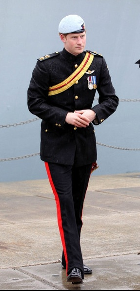 Prince Harry is a Captain in the Blues & Royals. Photo- Order of Splendor