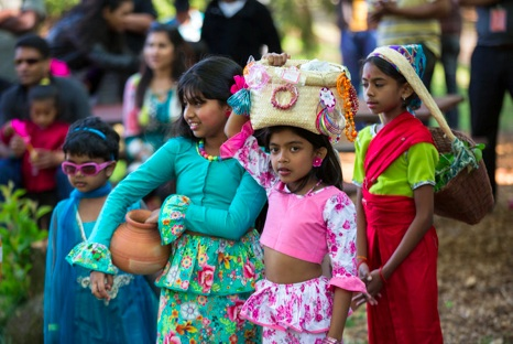 A Sri Lankan New Year's celebration on Staten Island. James Estrin:The New York Times