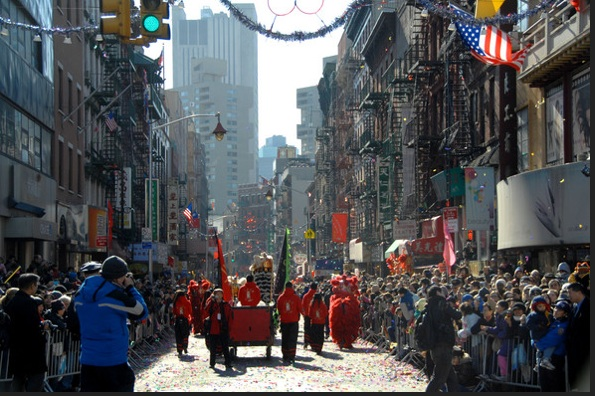 NYC Chinatown celebrates Chinese New Year. Photo- Zimbio.