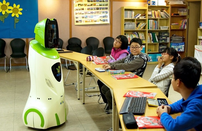 6. An English-teaching robot. Photo- Boston Globe