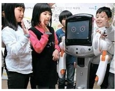 A Robot in Korean Kindergarten. Photo Scoopit