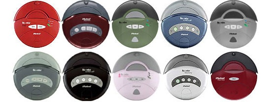 iRobot Roomba comes in a variety of pleasing colors. Robot Shop.