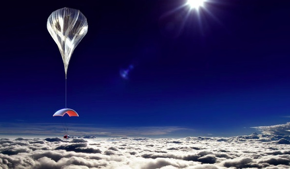 A rendering of the balloon, which would climb about 18.5 miles and stay up for a couple of hours before its promised gentle descent. World View Enterprises.