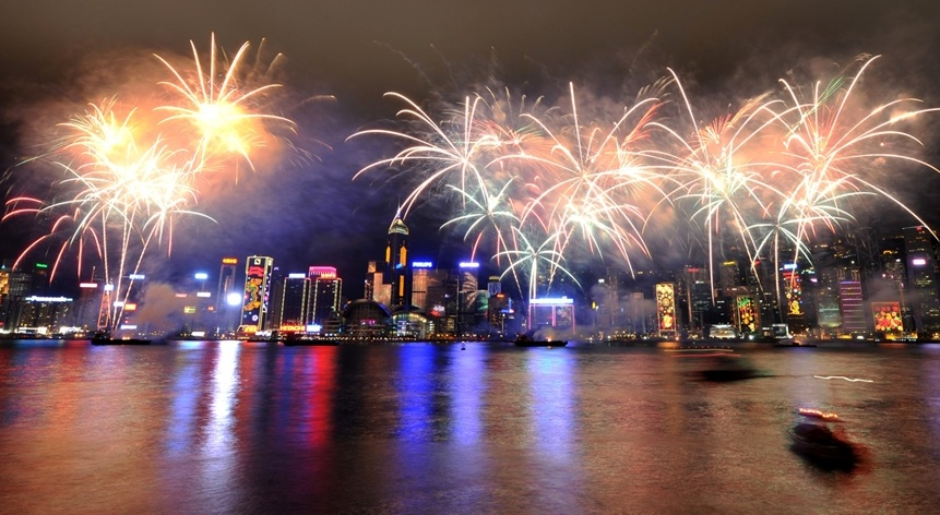 Chinese New Year, Victoria Harbour in Hong Kong. Photo-NBC News