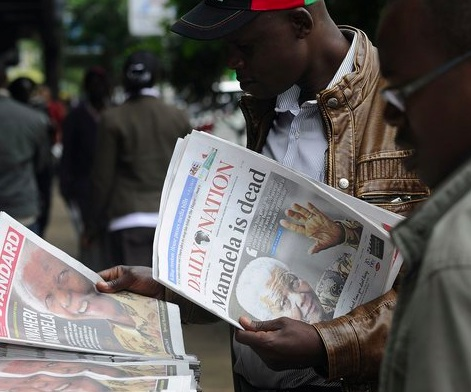 In Kenya, the front pages of Friday's newspapers honored Mr. Mandela.   Simon Maina:Agence France-Presse.