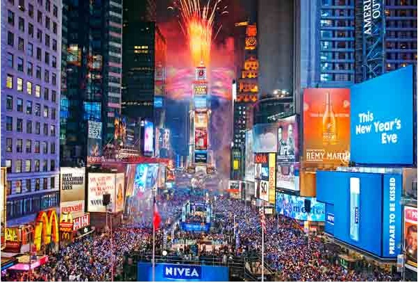 New Year Celebration New York City's Times Square. Photo- C. Morris.