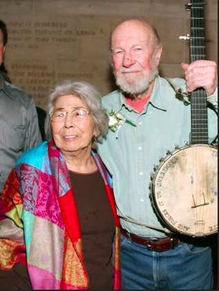 Pete Seeger and his  beautiful wife Toshi were married for 70 years. Photo- People