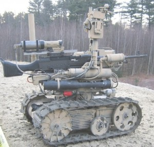 SWORDS, a previous generation of weaponized robots, had its combat duties curtailed when it made movements without being given a command. (Photo- QinetiQ)