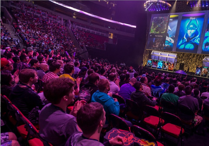 A video game tournament in Seattle in July. Pro gaming, called e-sports, is becoming a lucrative worldwide spectator sport.Credit:Stuart Isett for The New York Times
