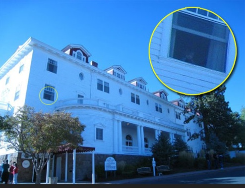A person was on a ghost tour of the hotel and happened to take this picture just outside the hotel. As you can see the window has a child at it, the figure is hazy when it shouldn't be because that window is actually opened. HPA