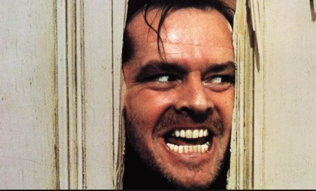 Jack Nicholson in film  The Shinning. Credit The Guardian