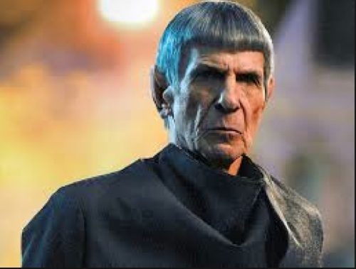 An older Mr. Spock.
