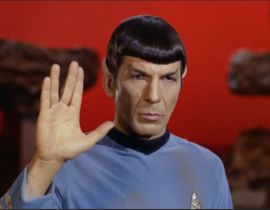 Nimoy as the famous Mr. Spock.