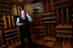 An anechoic chamber at Orfield Laboratories in Minnesota, is so quiet that the longest anybody has been able to bear it is 45 minutes.Image courtesy of Star Tribune