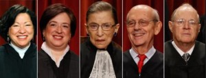 Justices for same-sex marriage-Sotomayor, Kagan, Ginsburg, Breyer, Kennedy