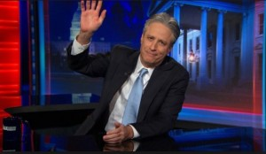 Jon Stewart- rather than saying goodbye or good night, I'm just going to say- I'm going to go get a drink. Photo- Interrobang.com