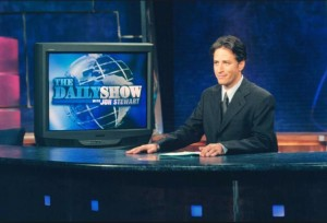 Jon Stewart takes the reins as anchor of The Daily Show in 1999 . Photo- Time