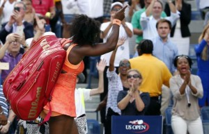 Serena always the Champion waves as fans give her a standing ovation.Phot- sacbee.com