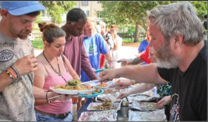 First Food Not Bombs group feed homeless. Photo- nytimes
