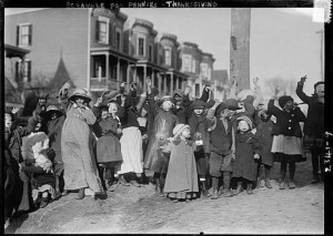 Thanksgiving Maskers via Bain News Service-Library of Congress