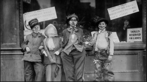 Young Thanksgiving maskers, circa 1910-1915. Bain News Service:Library of Congress.