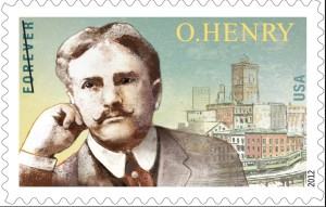 O. Henry- 1862-1910. In 2012 the U.S. Postal Service issued a commemorative stamp to observe the sesquicentennial of O. Henry's birth.