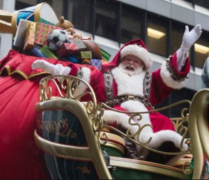 Santa in the famous Macy's Day Parade in New York City, U.S.A. dailymail