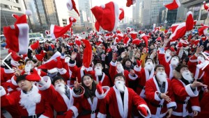 Volunteer Santas in Seoul, Korea. CNN