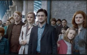 The last scene from Deathly Hallows with original cast.