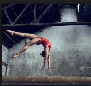 Beautiful pic of Biles in practice. Photo-Vogue Magazine