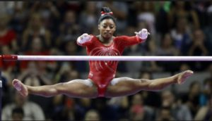 Biles securing Olympic gold