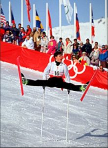Fabrice Becker won an Olympic gold medal in freestyle skiing for France at the 1992 Winter Olympics. Photo-britannica