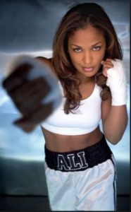 Professional boxer Laila Ali. Photo-boxrec