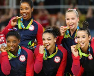 2016 US Women's Gymnastic team wins gold in Rio.